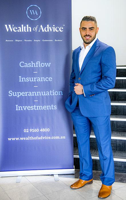 David Kashan, a financial adviser in Baulkham Hills, Sydney